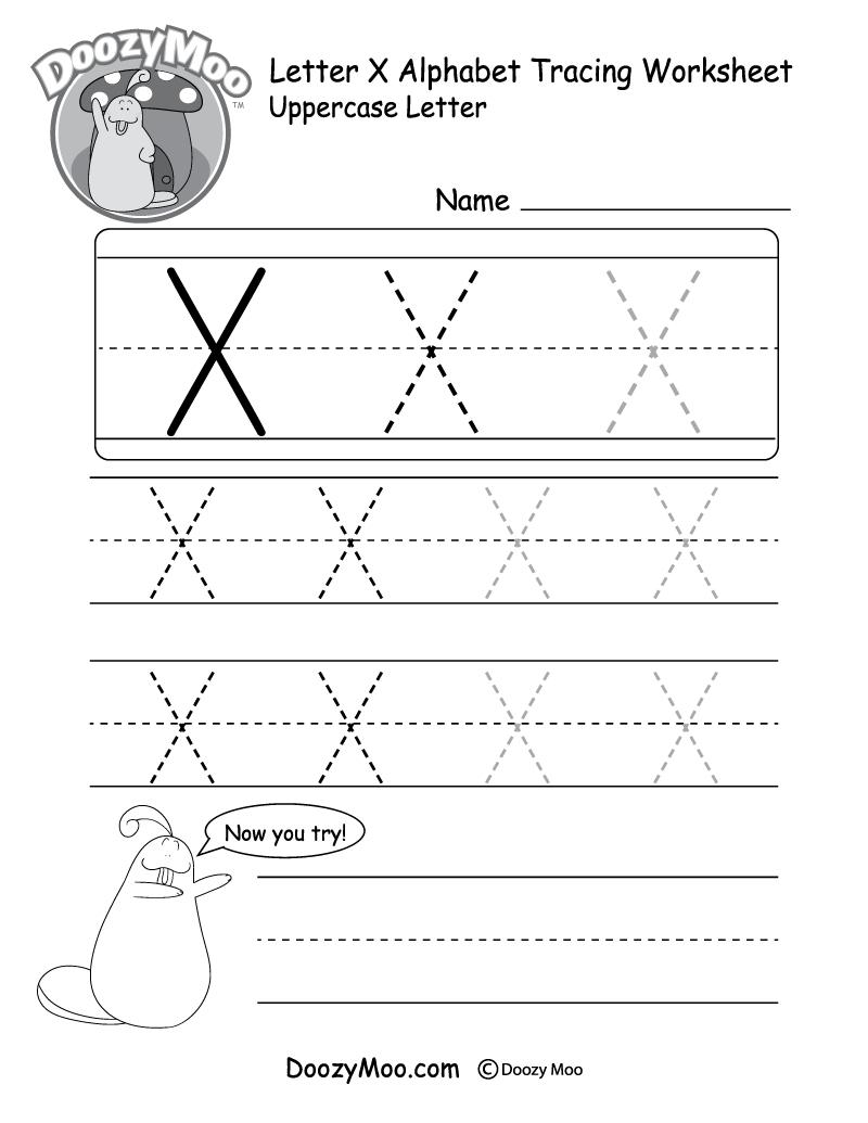 Uppercase Letter X Tracing Worksheet | Letter Tracing regarding Uppercase Letters Tracing Free Printables