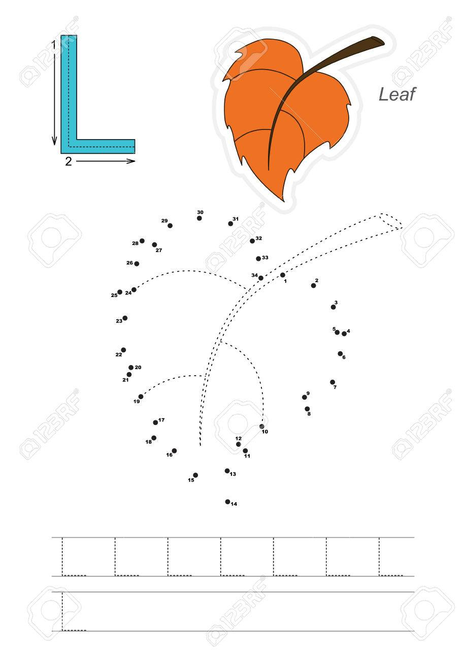 Vector Exercise Illustrated Alphabet. Learn Handwriting. Connect.. pertaining to Dot To Dot Letters For Tracing