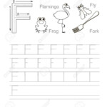 Vector Exercise Illustrated Alphabet. Learn Handwriting. Tracing.. in Tracing Letter F Worksheets