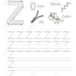 Vector Exercise Illustrated Alphabet. Learn Handwriting. Tracing.. pertaining to Tracing Letter Z Worksheets