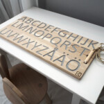 Wooden Alphabet Finger Tracing Board throughout Finger Tracing Alphabet Letters