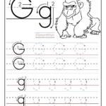 Worksheets For Preschoolers | Printable Letter G Tracing pertaining to G Letter Tracing Worksheet