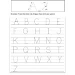 Worksheets : Practice Writing Alphabettters Worksheets To in Tracing Letters Worksheets With Pictures