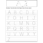 Worksheets : Practice Writing Alphabettters Worksheets To regarding Writing Tracing Letters