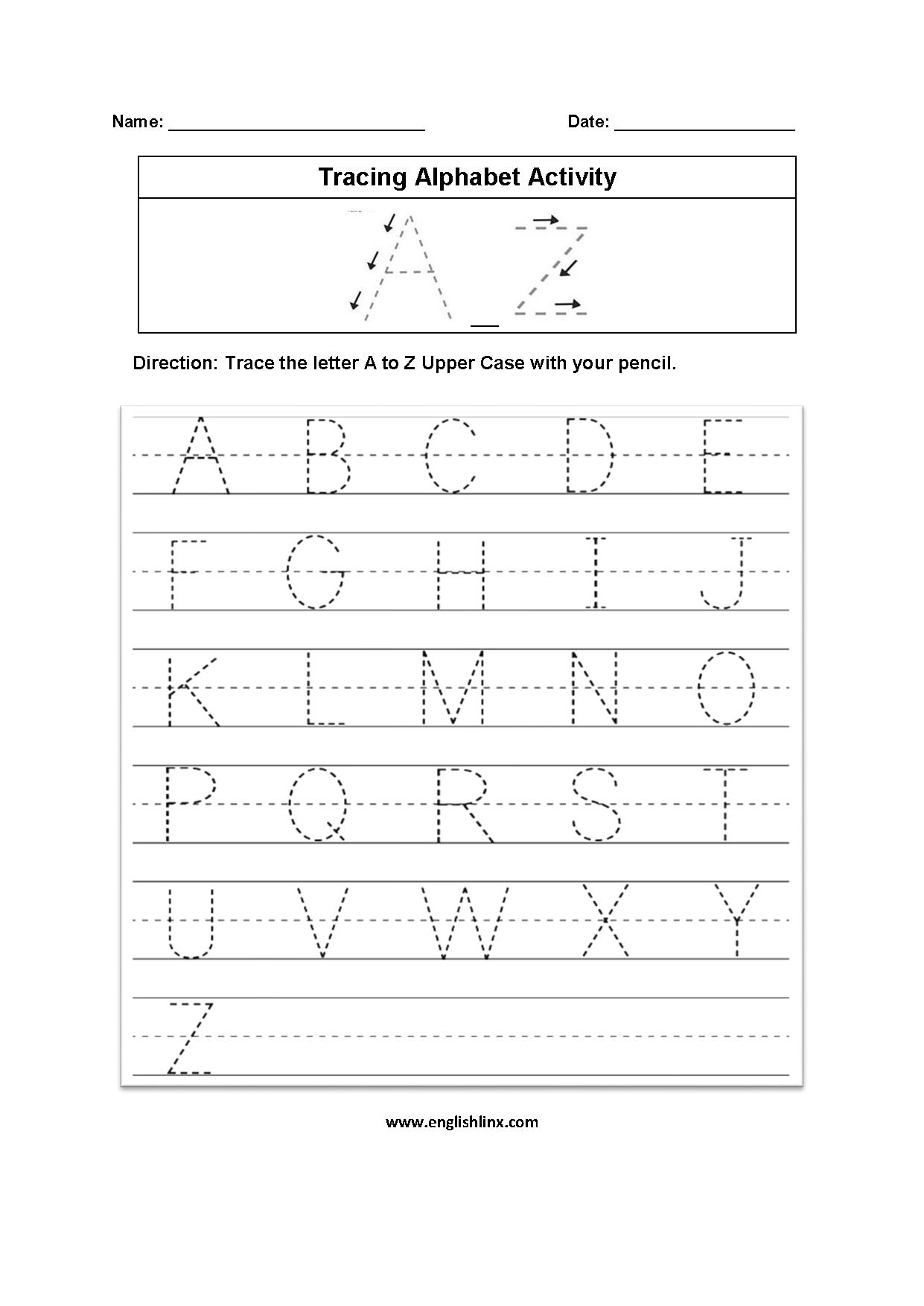 Worksheets : Practice Writing Alphabettters Worksheets To with Tracing Letters Worksheets Printable