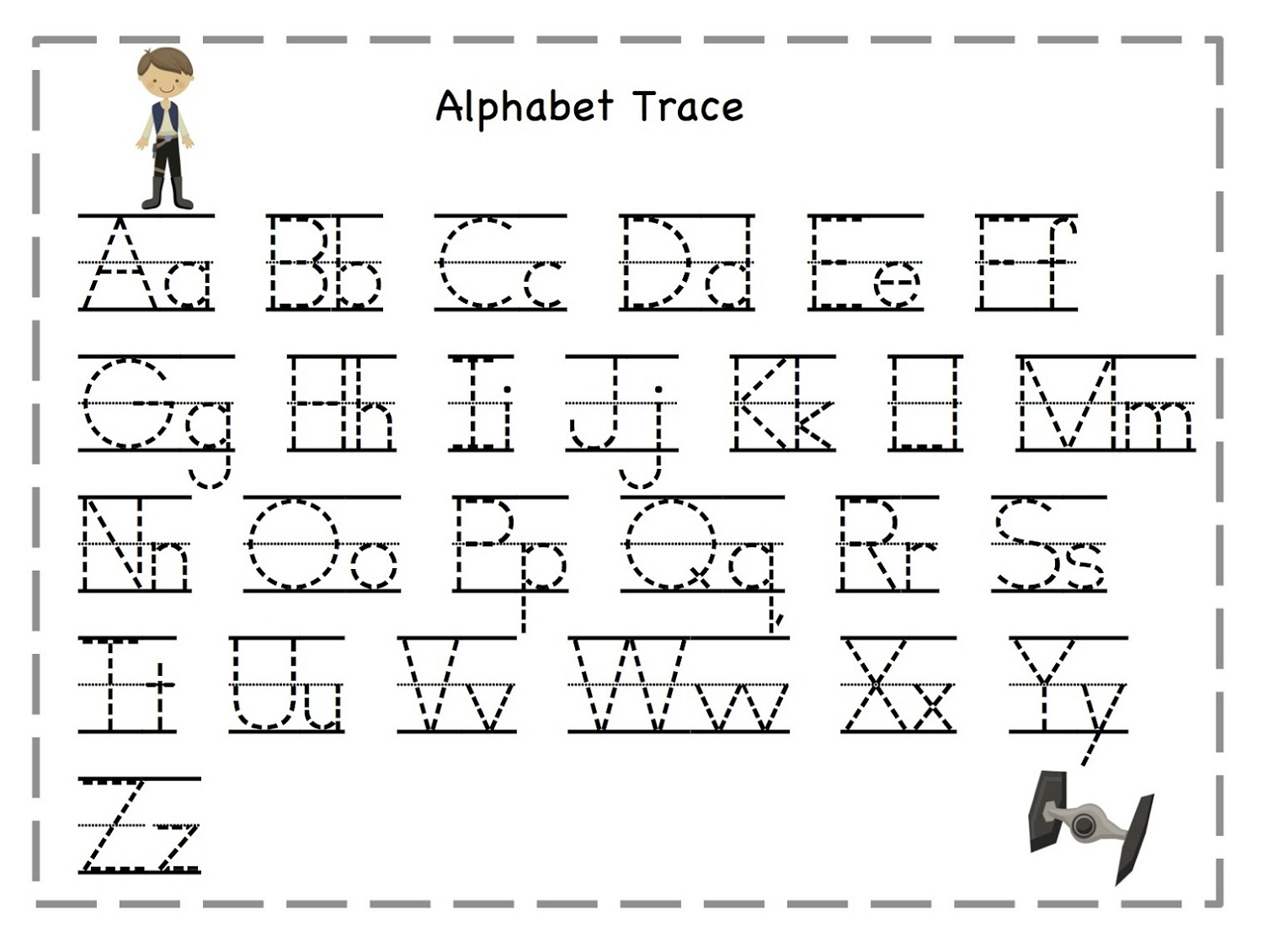 Worksheets : Writing Alphabet Letters Worksheets Chinese throughout Tracing Letters Template Free
