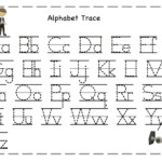 Worksheets : Writing Alphabet Letters Worksheets Chinese within Tracing Letters Template