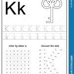 Writing Letter K Worksheet Z Alphabet Kids Worksheets Az For with regard to Create Your Own Tracing Letters Worksheets