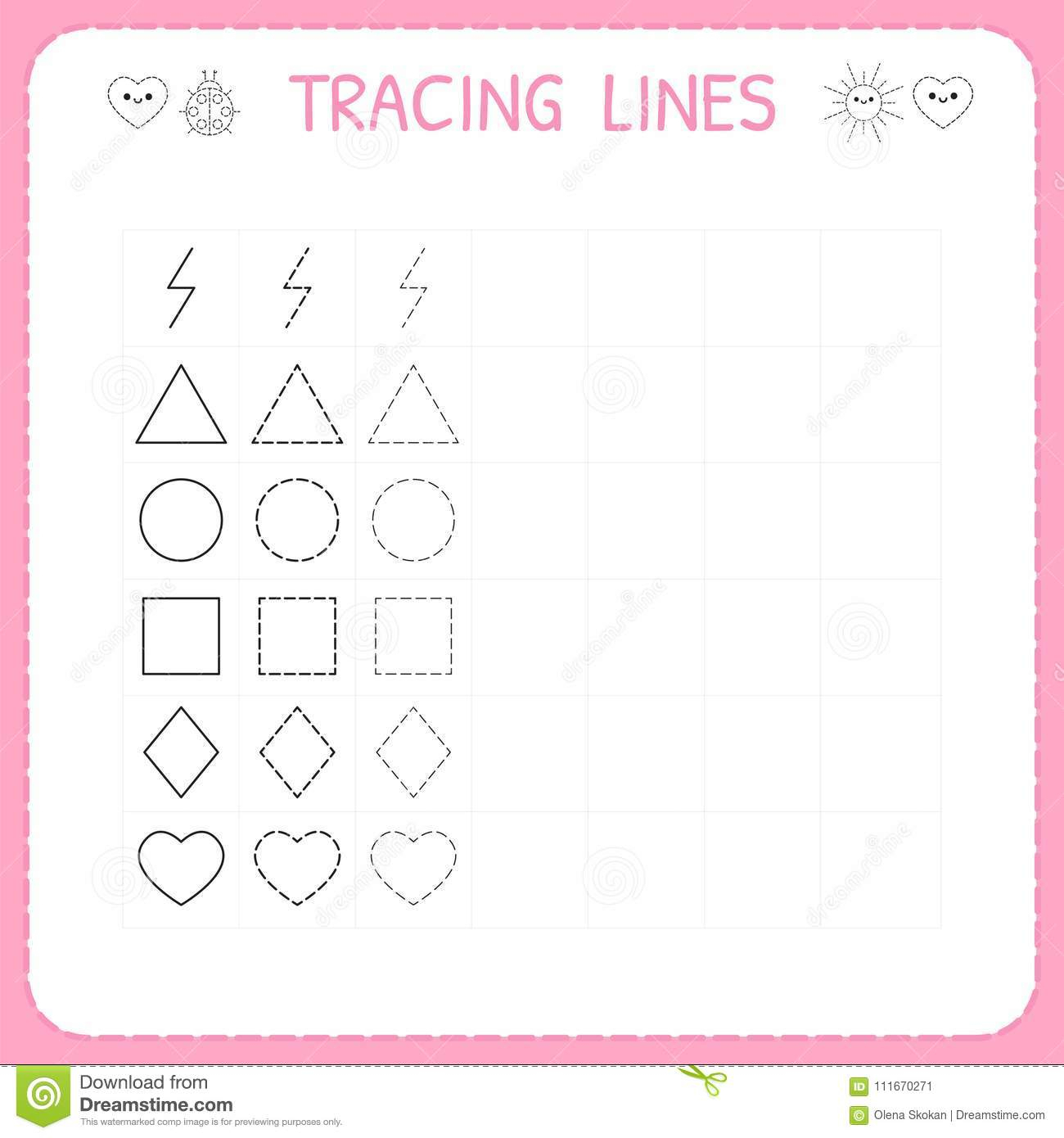 Writing Worksheets For Kids Trace Line Worksheet Working pertaining to Trace Letters Worksheet For Grade 1