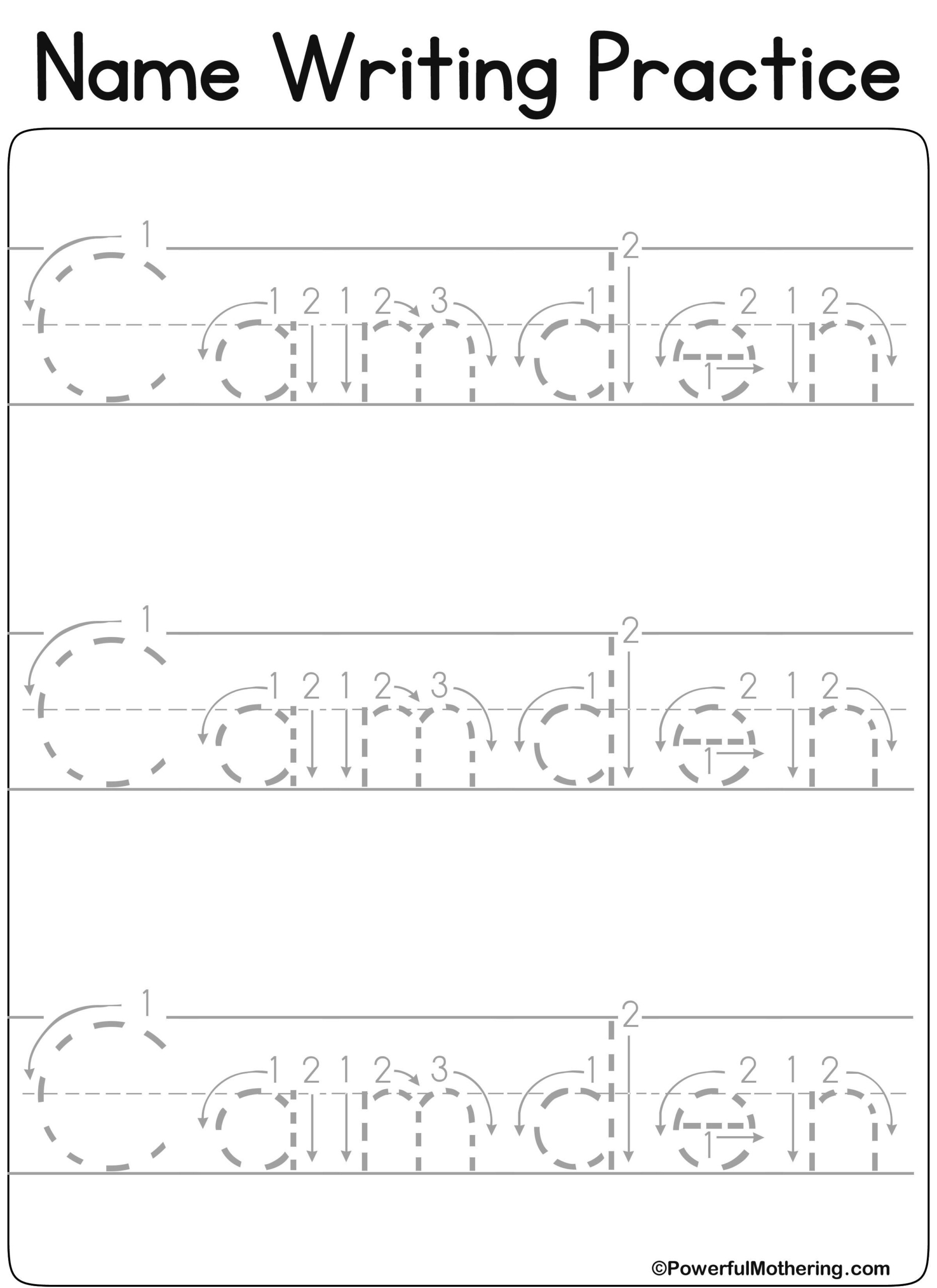 Www.createprintables Custom_Name_Get.php?text with Preschool Tracing Letters Name