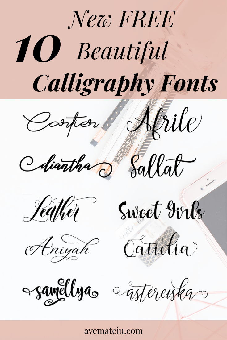 10 New Free Beautiful Calligraphy Fonts | Free Calligraphy