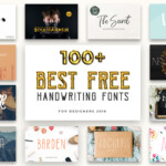 100 Best Free Handwriting Fonts For Designers 2020