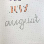 11 Simple Hand-Lettered Fonts For Your Bullet Journal