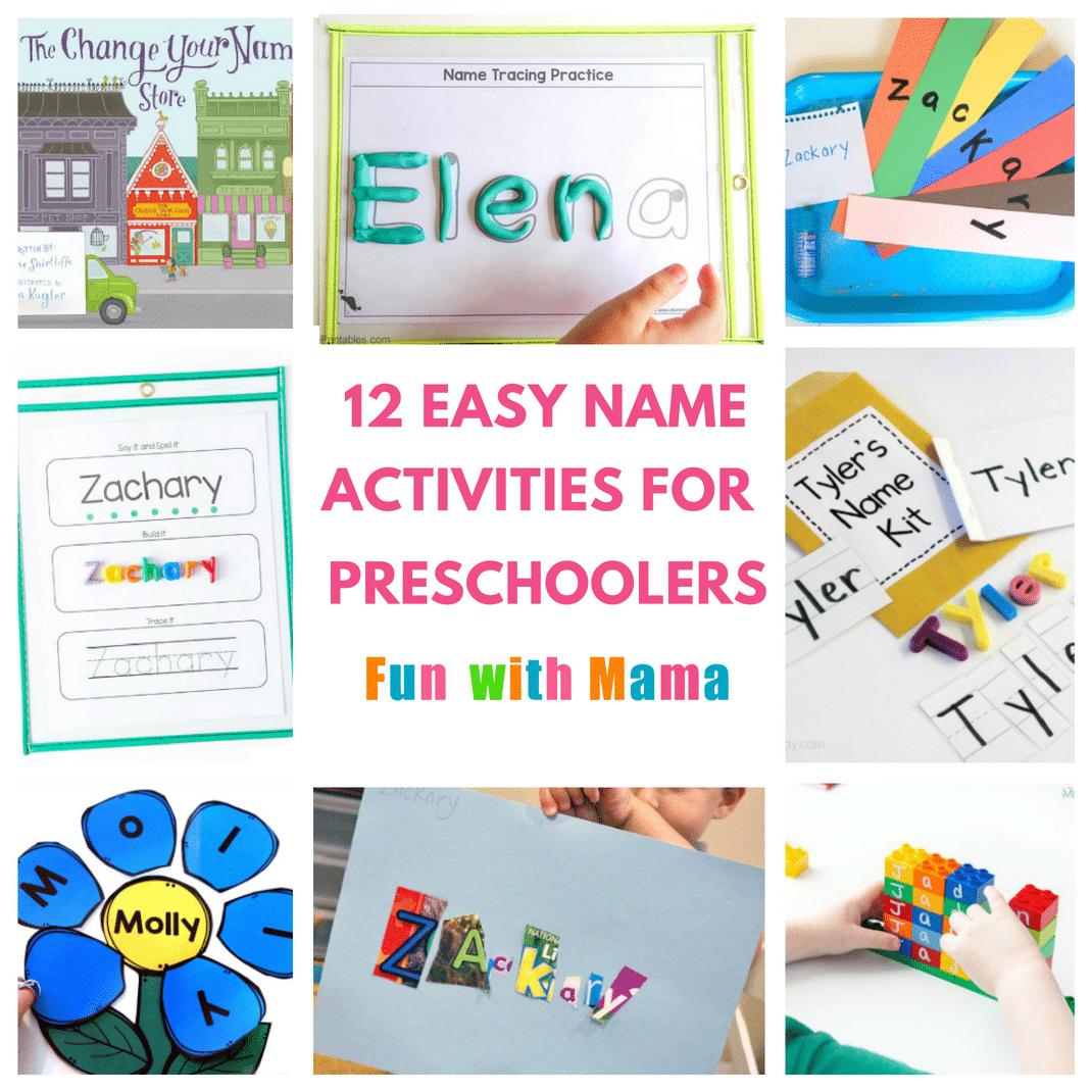 12 Hands On Name Activities For Preschooolers - Fun With Mama