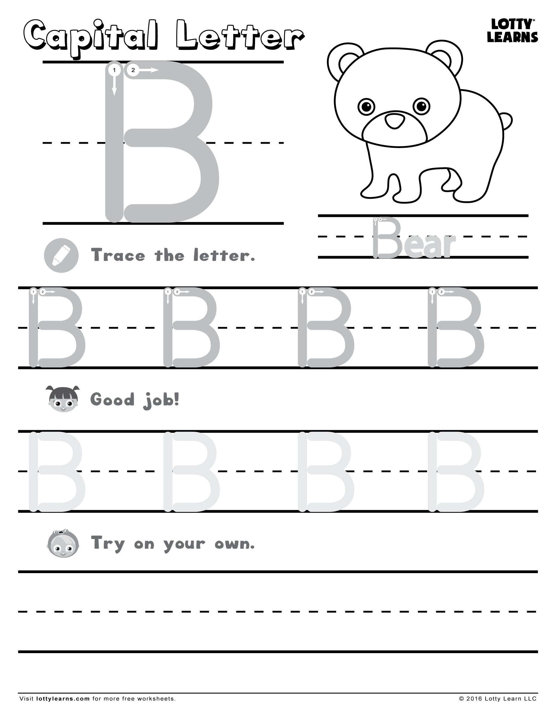 18 Letter B Worksheets For Practicing | Kittybabylove