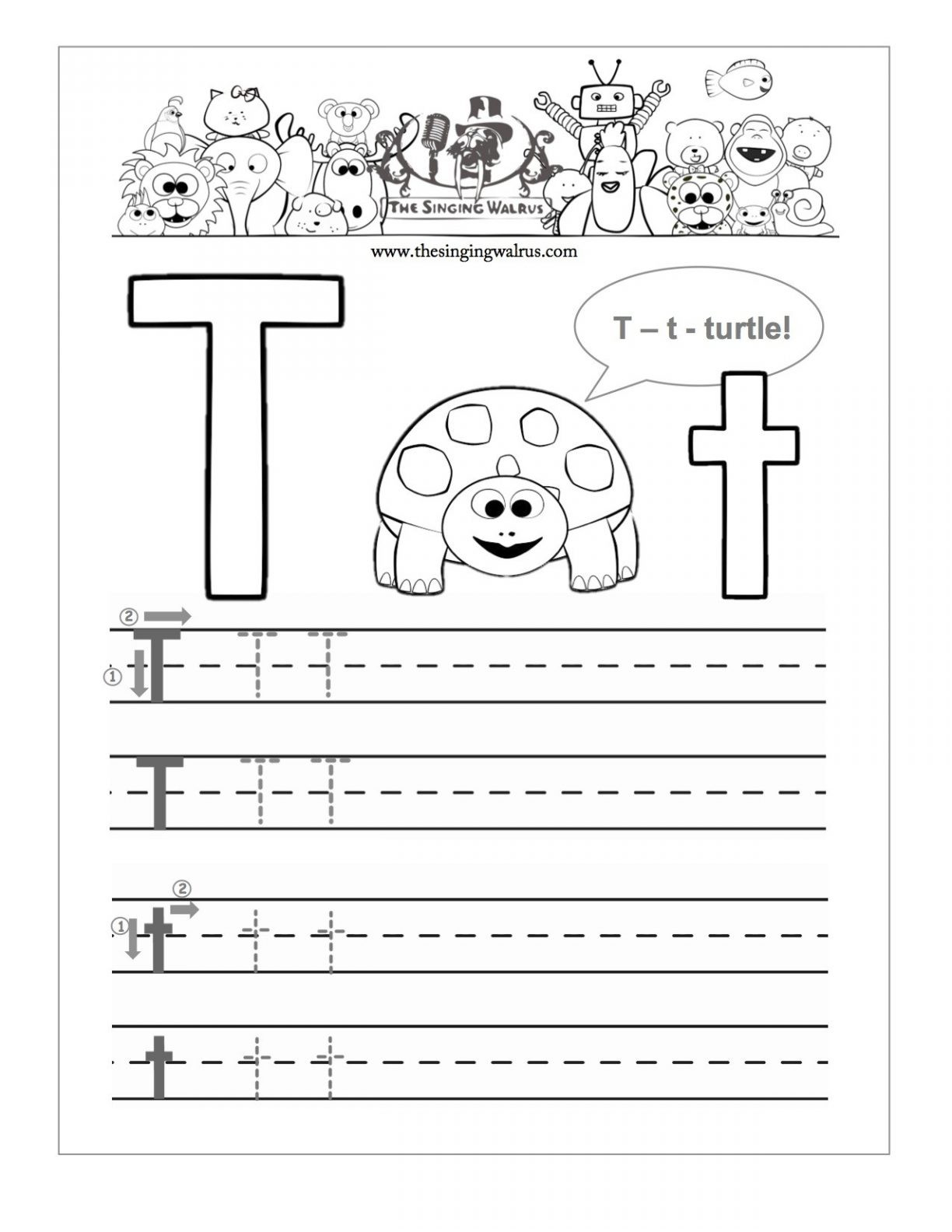 20 Learning The Letter T Worksheets | Kittybabylove