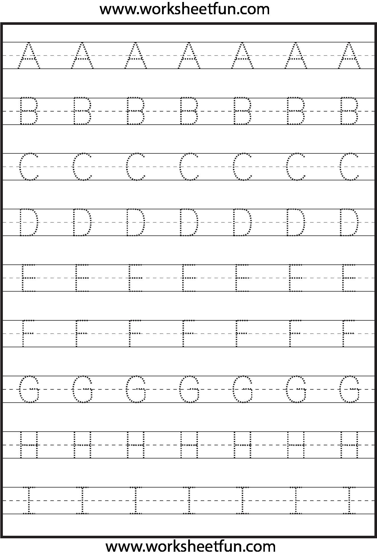 3 Kindergarten Abc Tracing Worksheet R – Learning Worksheets