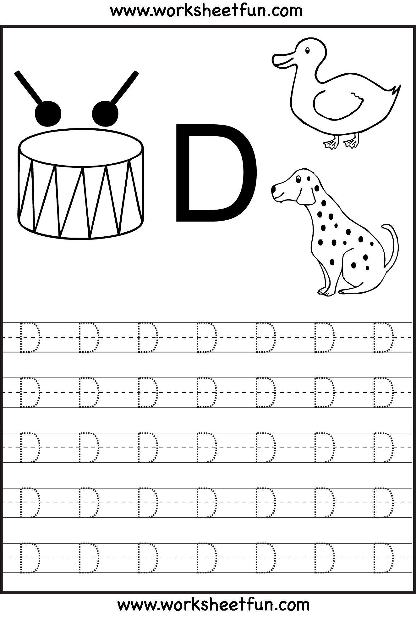 3 Letter H Writing Practice Worksheet In 2020 | Letter D