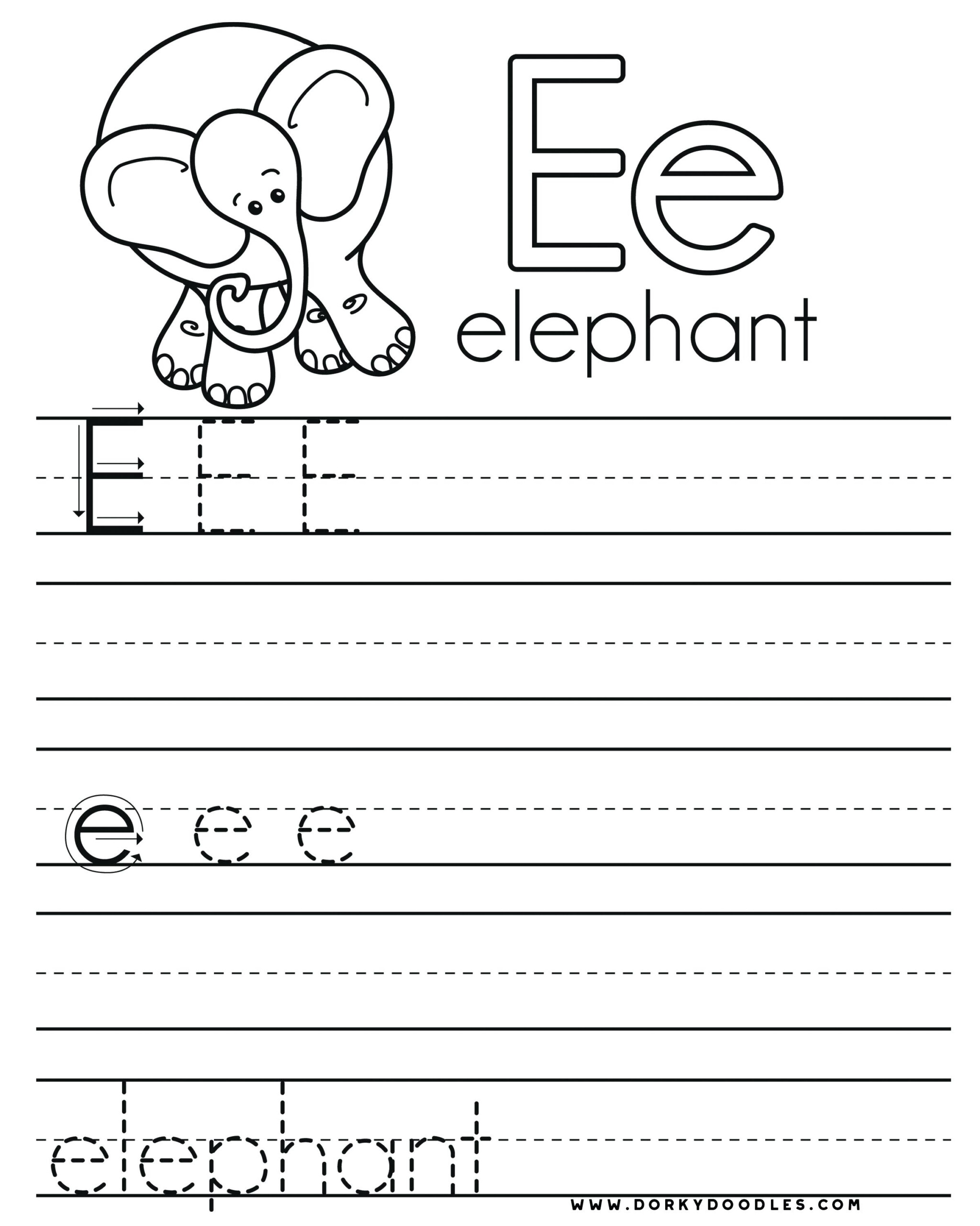32 Fun Letter E Worksheets | Kittybabylove