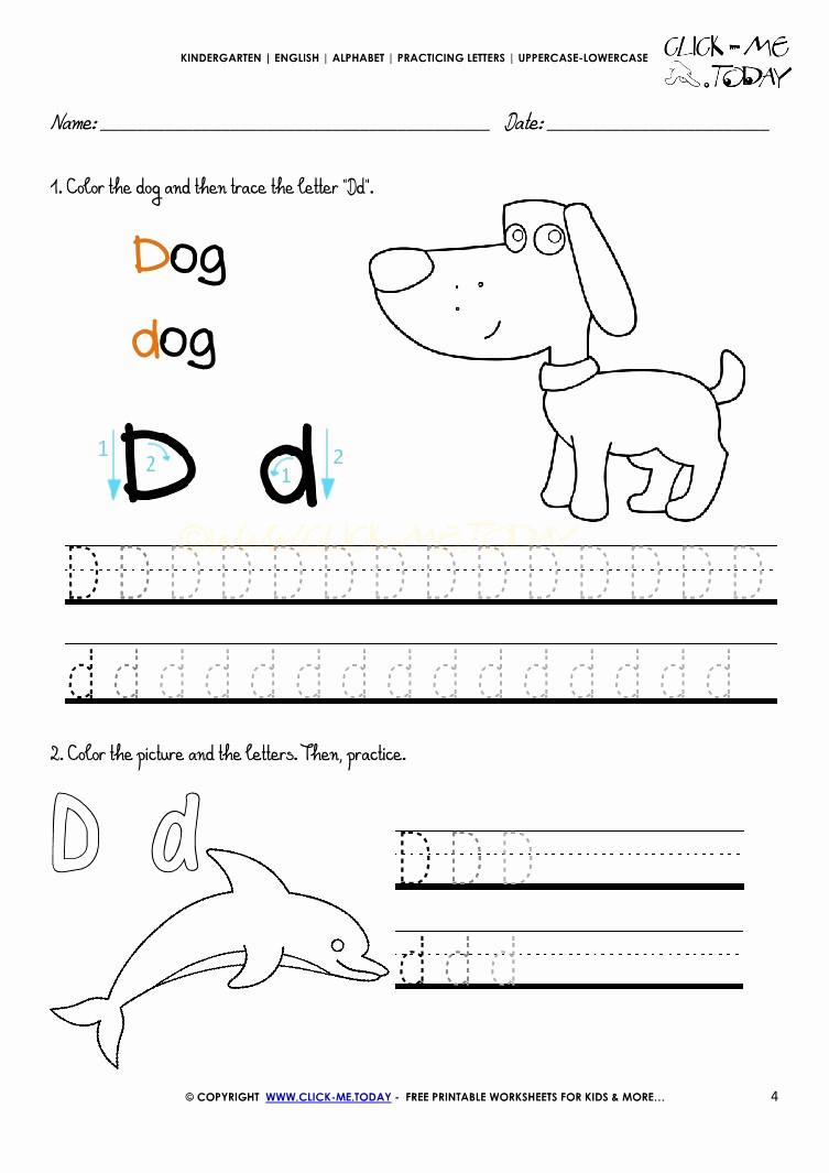 4 Alphabet Worksheets Kindergarten Free - Worksheets Schools