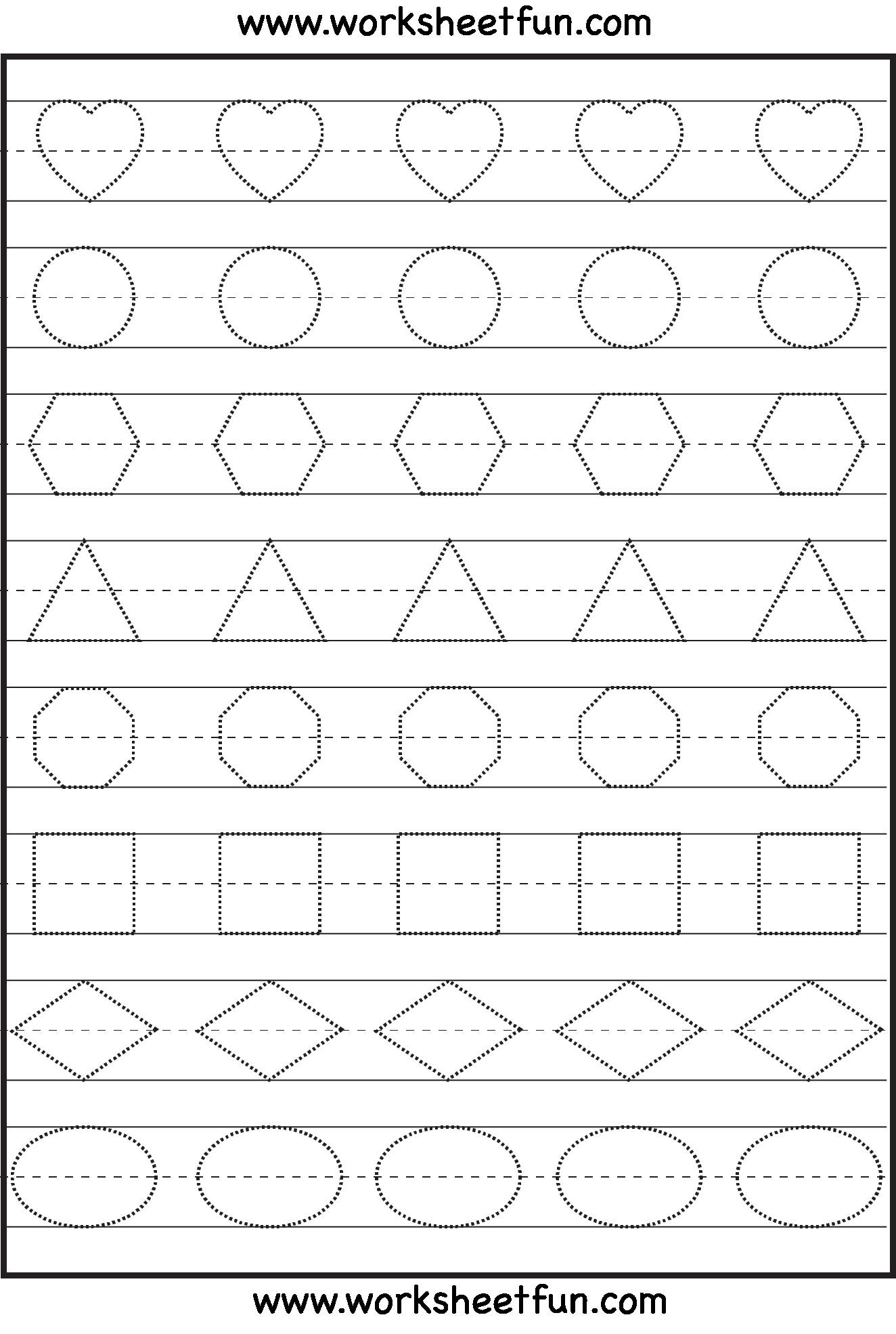 4 Patterns Preschool Tracing Worksheets – Learning Worksheets