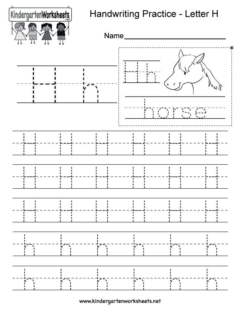 4 Worksheet Free Preschool Kindergarten Worksheets Letters
