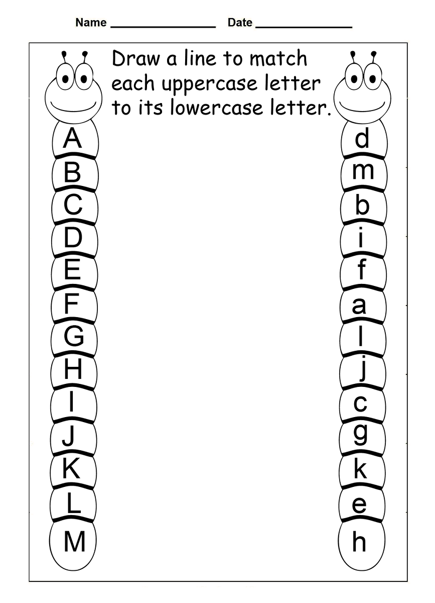 4 Year Old Worksheets Printable Alphabet | Preschool