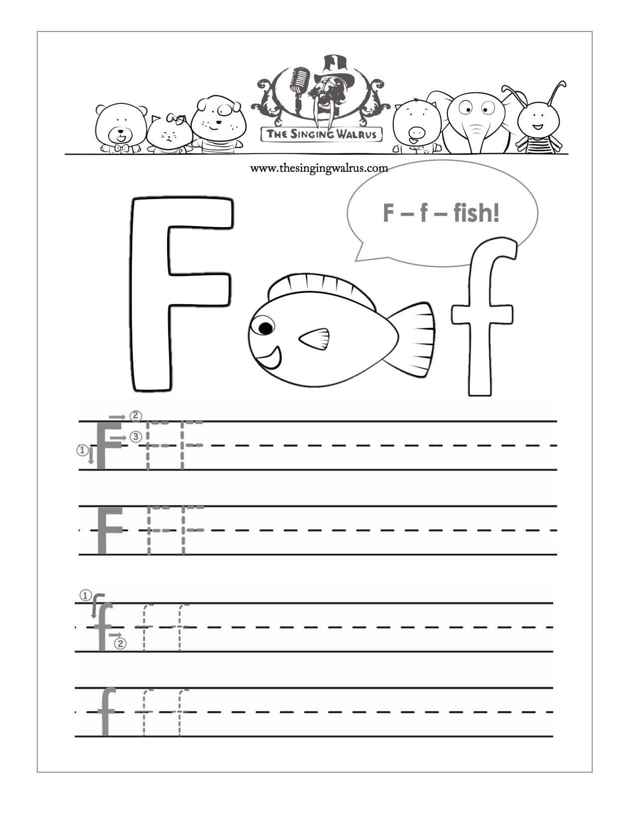 8 Best Images Of Free Printable Alphabet Worksheets Letter F