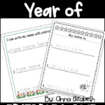 A Whole Year Of Editable Name Tracing Practice | Name