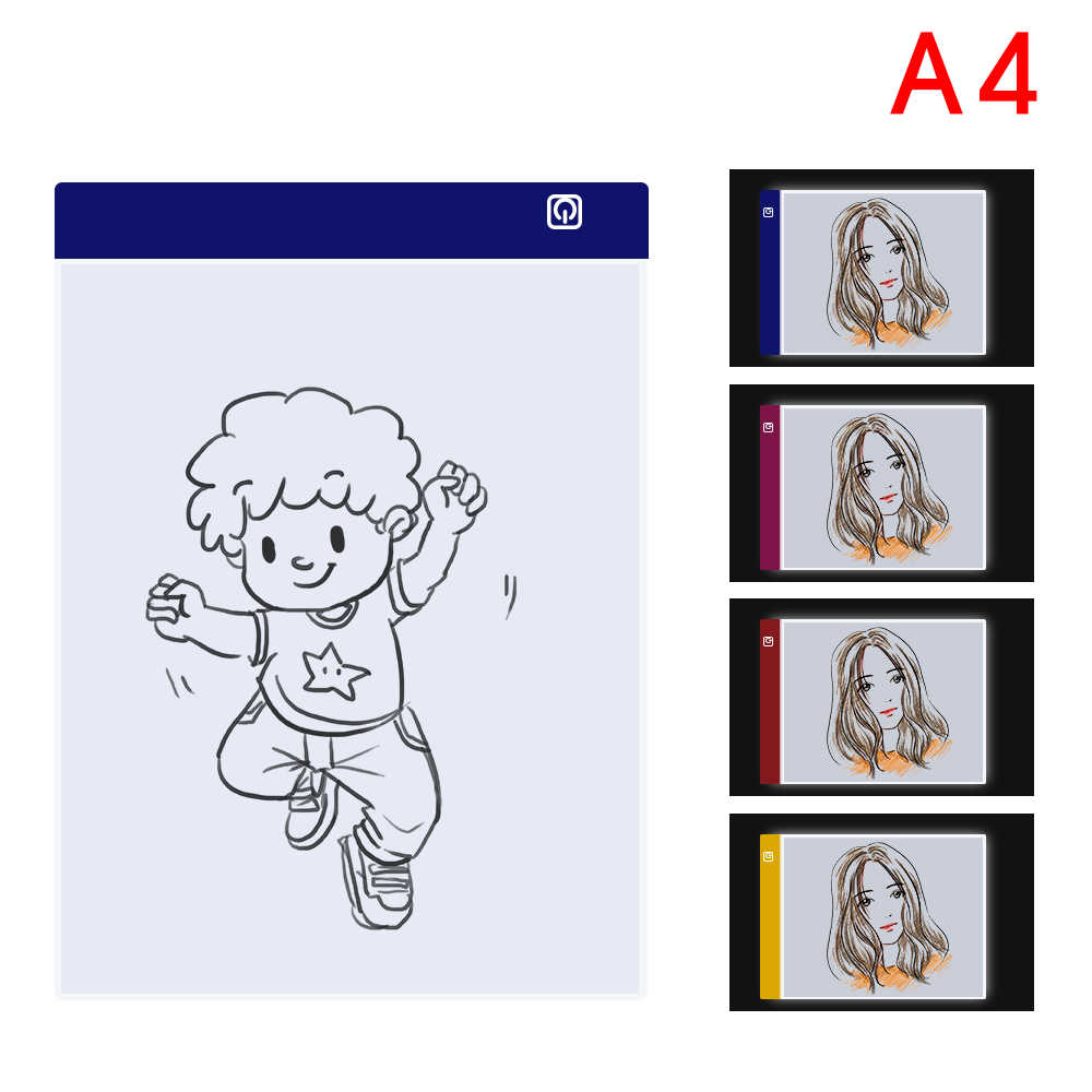 A4 Led Graphic Tablet Light Box Tracer Digital Tablet Writing Painting  Drawing Ultra-Thin Tracing Copy Pad Board Artcraft Sketch
