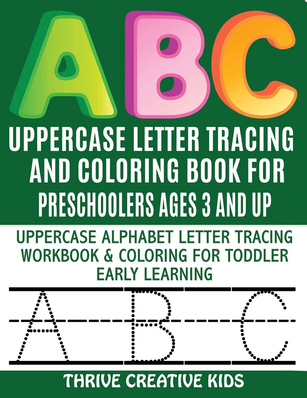 Abc Uppercase Letter Tracing Coloring Book For Kids