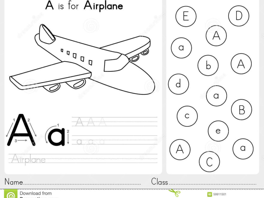 Alphabet A-Z Tracing And Puzzle Worksheet, Exercises For