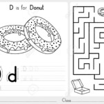 Alphabet A-Z Tracing And Puzzle Worksheet, Exercises For Kids..