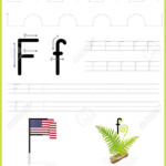 Alphabet A-Z Tracing Worksheet, Exercises For Kids - Illustration..