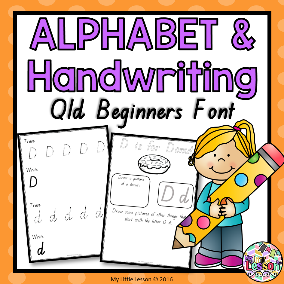 Alphabet And Handwriting Book - Qld Beginners Font