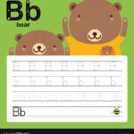 Alphabet B Tracing Worksheet For Preschool
