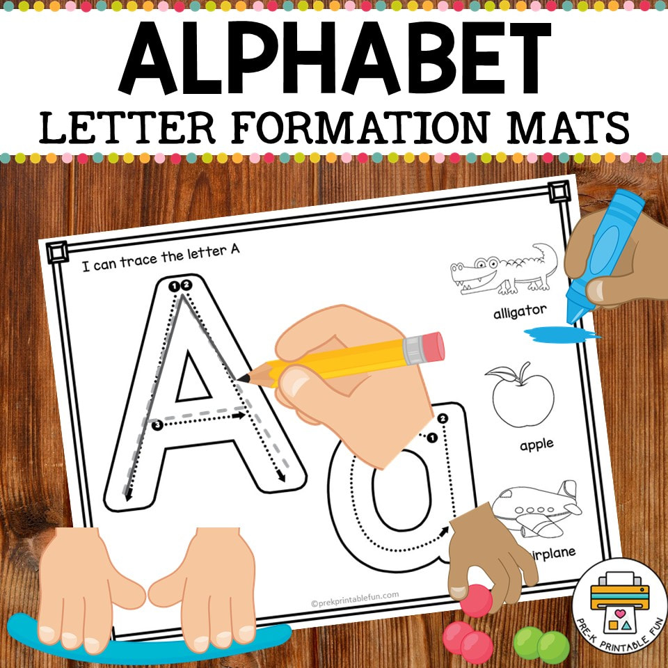 Alphabet Formation Mats - Pre-K Printable Fun