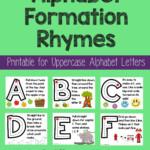 Alphabet Formation Rhymes   Alphabet Preschool, Preschool