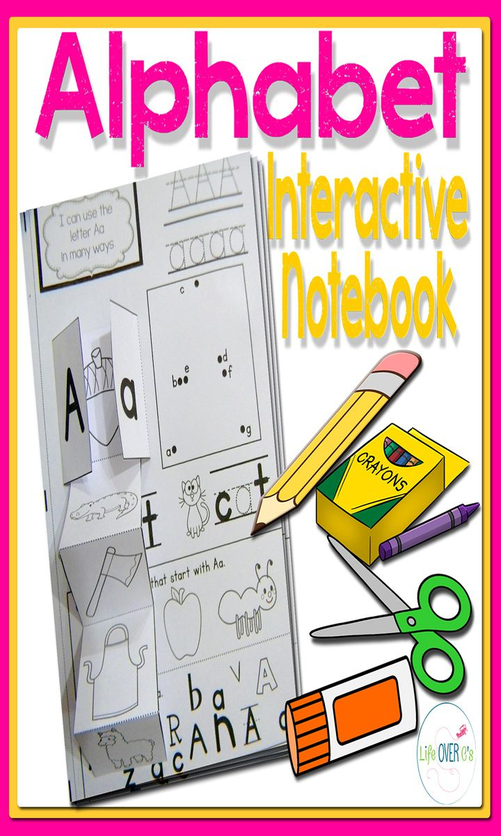 Alphabet Interactive Notebook For Letter Recognition And