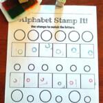 Alphabet Letter Stamping Center   Alphabet Activities