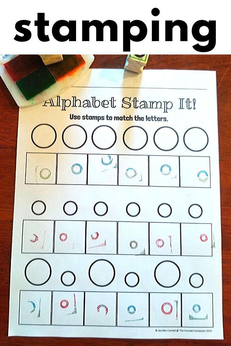 Alphabet Letter Stamping Center | Alphabet Activities