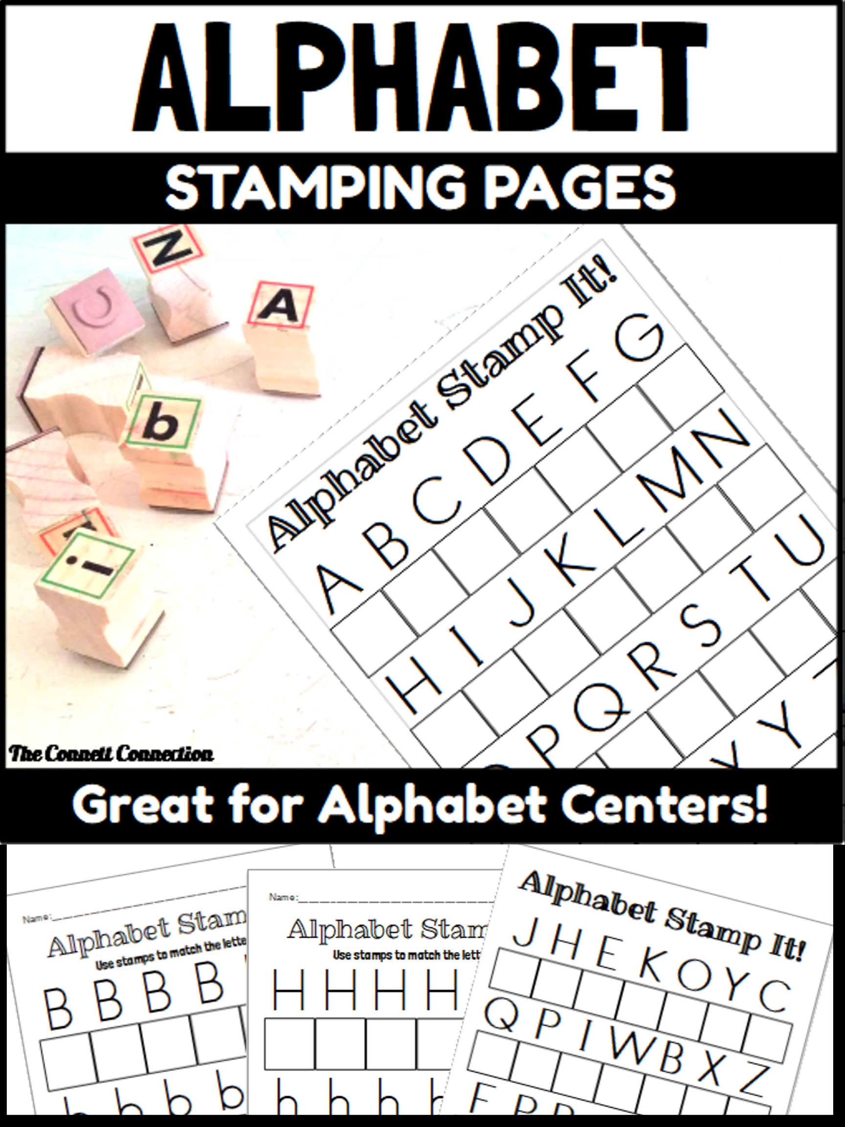 Alphabet Letter Stamping Center   Letter Recognition
