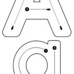 Alphabet Letter Tracing Font • Letter Formation Font