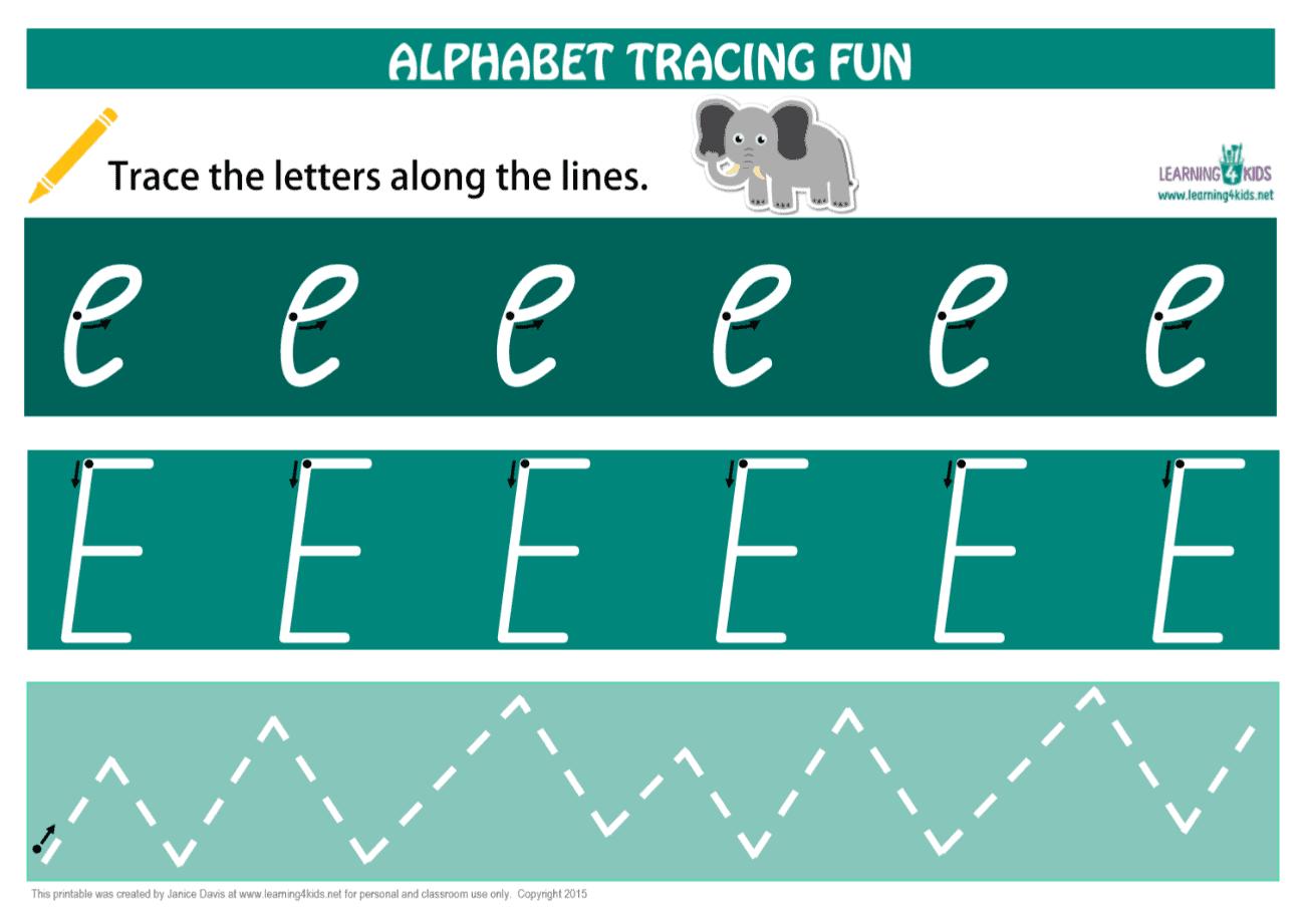 Alphabet Letters Tracing Mats Cursive Print