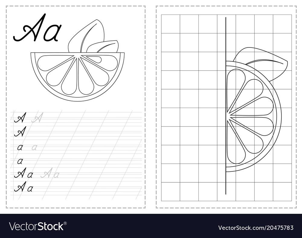 Alphabet Letters Tracing Worksheet With Russian