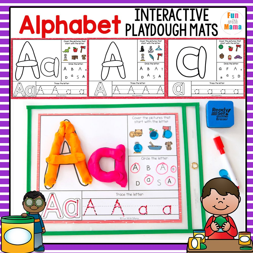 Alphabet Playdough Mats - Interactive - Fun With Mama Shop