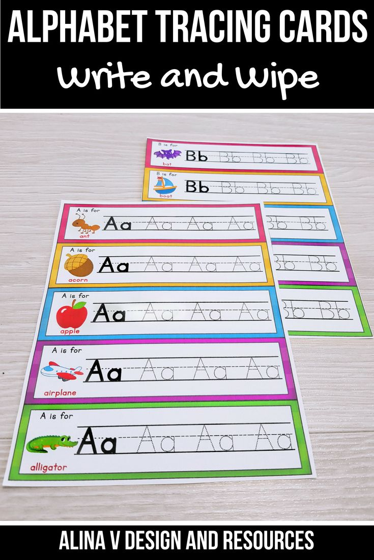 Alphabet Tracing Cards, Alphabet Tracing Pages, Alphabet