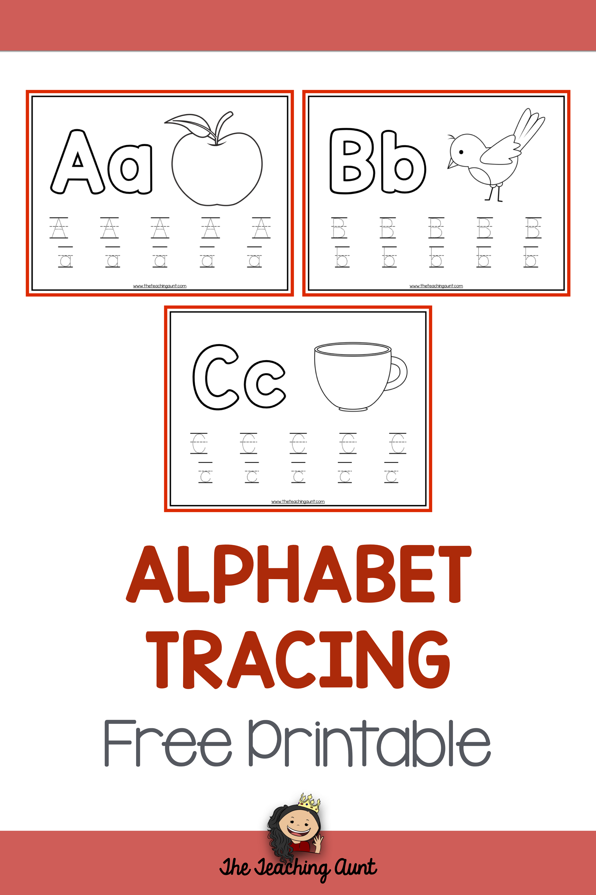 Alphabet Tracing Free Printable | Preschool Writing