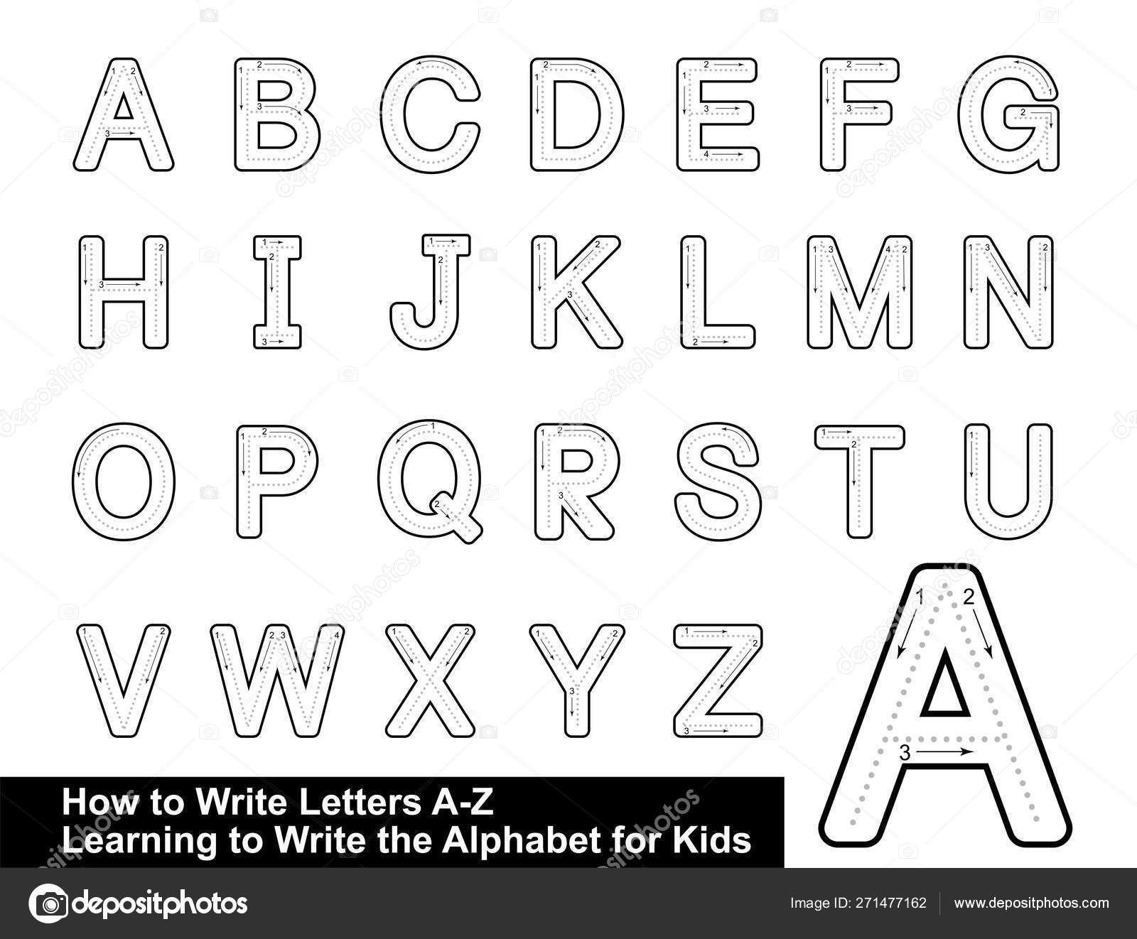 Alphabet Tracing Letters Step Step Letter Tracing Write