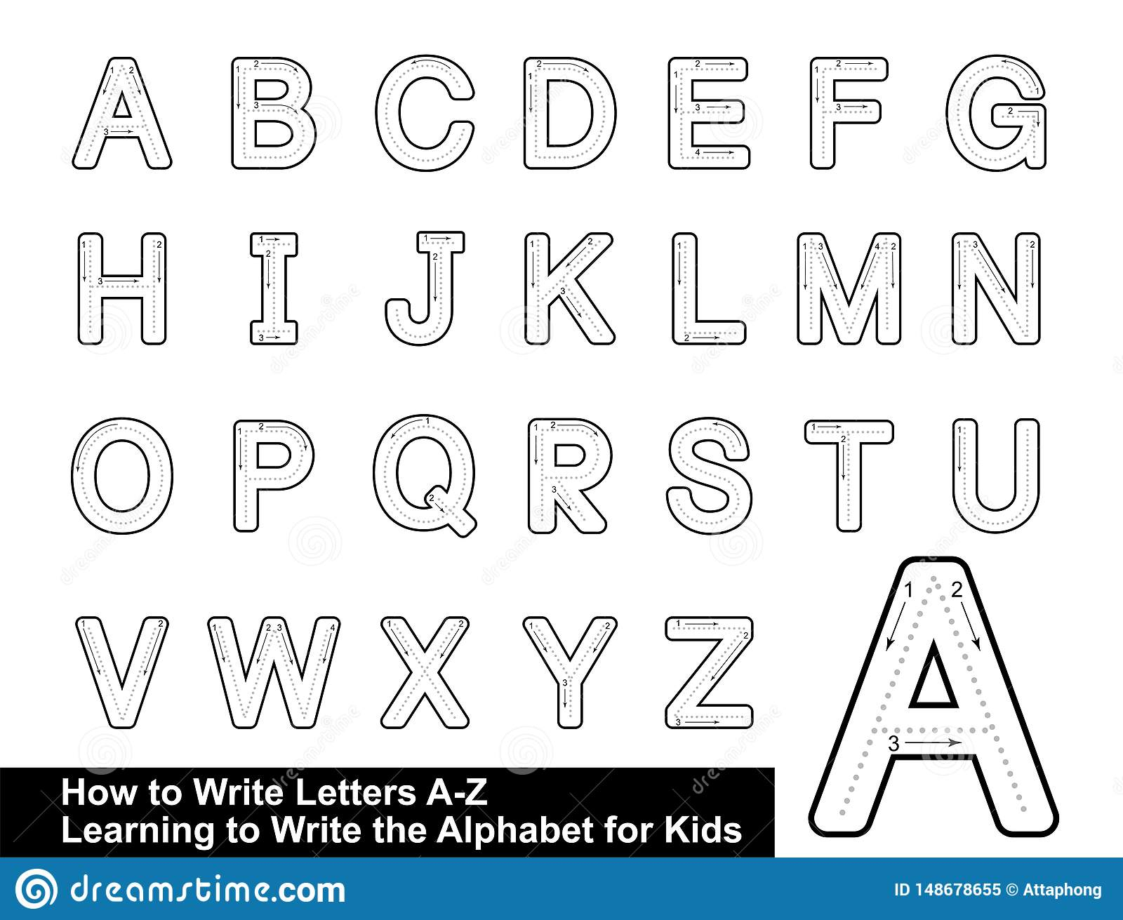 Alphabet Tracing Letters Stepstep Letter Tracing Write